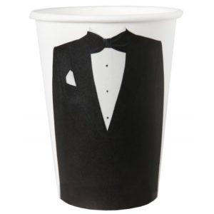 GROOM PAPER CUPS 10/PCS