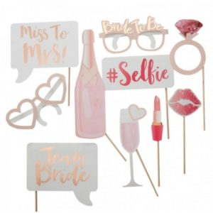 Bachelorette Photo Booth Set With 10 Different Photo Props