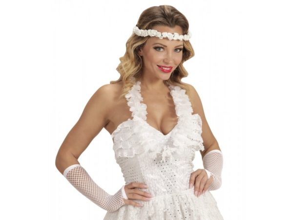 Headpiece With White Roses For Bride & Brides Maids