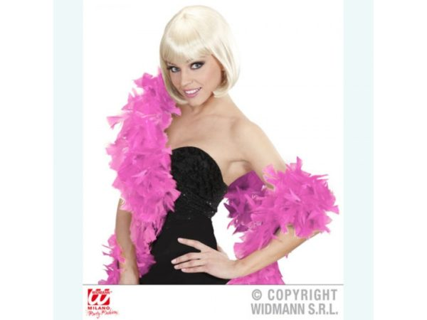 Novelty Pink Long Feathered Scarf (1.80m)
