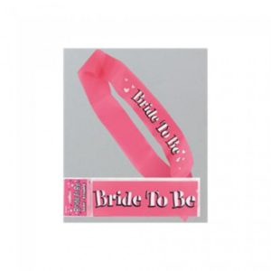 Pink Bride To Be Plastic Tape With White Print