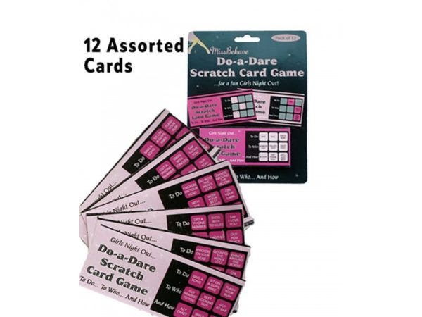"Do A Dare"" Scratch Card Game With 12 Assorted Cards For A Fab Hen Night Out!"