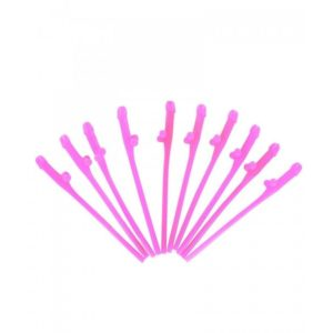 Novelty Pink Pecker (willy) Straws For Bachelorette Party