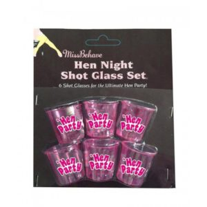 Hen night shot glasses 6pcs