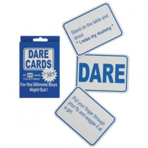 DARE CARDS FOR MEN BACHELOR PARTY