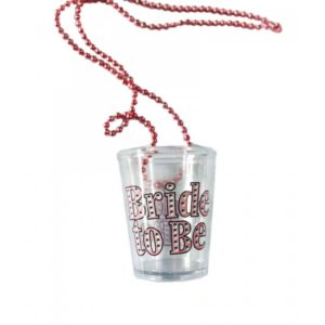 Bride To Be Shot Glass Necklace