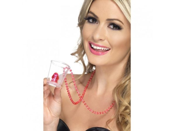 Naughty Novelty Willy Shooter Glass With Pecker Inside