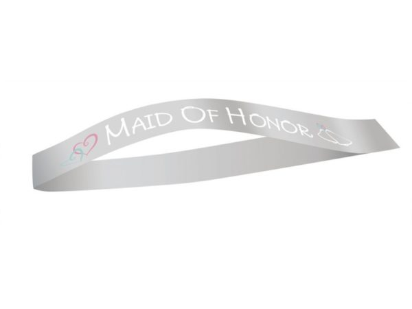White Maid Of Honor Sash For Hen Night