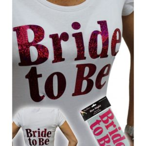 """Bride To Be "" Iron On Transfer For T-shirts"