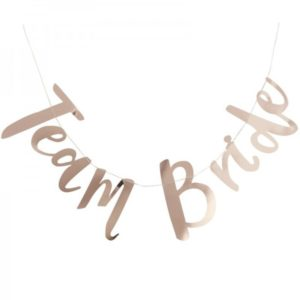 Gold Print Team Bride Garland