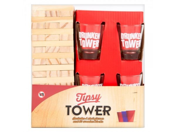 Tipsy Tower drinking game - Bachelor Party