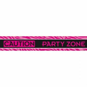 """Caution- Partyzone"" Party Tape For Bachelorette Party"