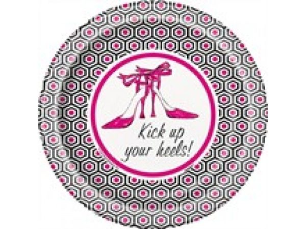 Kick Up Your Heels Paper Desert Plates (8) for Bachelorette Party