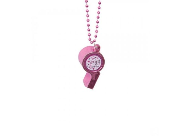 Pink Party Whistle Necklace For Bachelorette Party