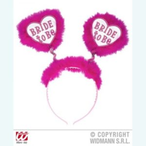 Bride to Be Furry Pink Headband For Bachelorette Party & Bridal Shower