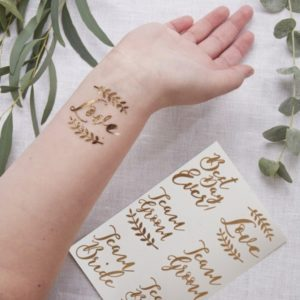Gold Tattoos For Wedding 12pcs