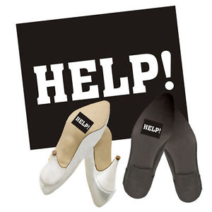 "Shoe Stickers ""Help"" (2pcs)"