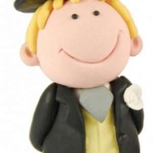 "Cake Topper ""Cuttie Blond Hair Groom"" (10cm)"