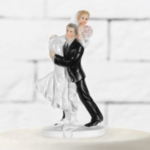 "Cake Topper ""The Bride Carried by The Groom"" (15cm)"