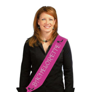 "Hot Pink with Glitter ""Bachelorette"" Sash"