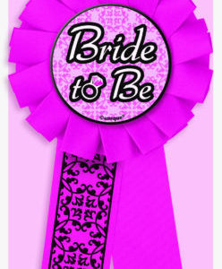 "Hot Pink ""Bride to Be"" Rosette Badge"