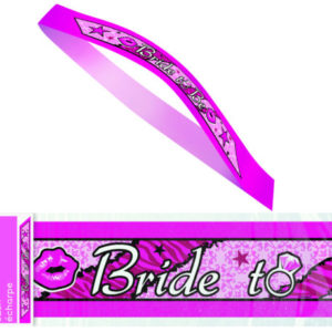 "Hot Pink ""Bride To Be"" Rock Style Sash"