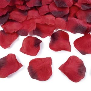Red Fabric Rose Petals (100pcs)