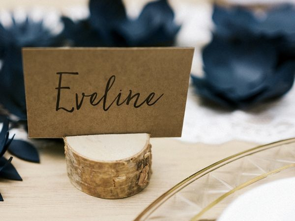 Wooden Place Cards Holders