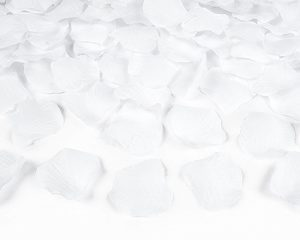 White Fabric Rose Pedals (100pcs)