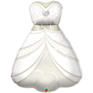 "Supershape Foil Balloon ""Bridal Dress with Diamond Heart"" (97cm)"