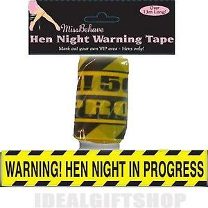 Hen Night Warning Tape (13,7m)