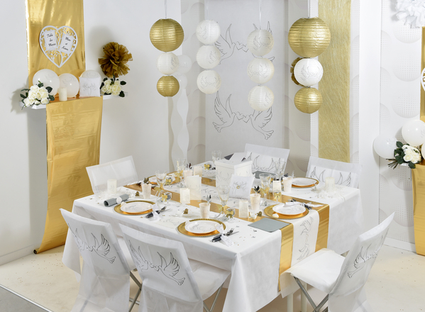 "Double Sided Foil Room Decoration ""Gold & Silver"""