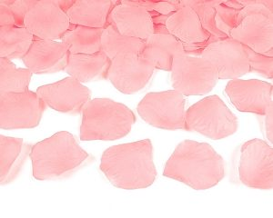 Pink Fabric Rose Petals (100pcs)
