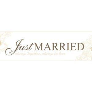 "Elegant Gold Paper Car Plate ""Just Married"""
