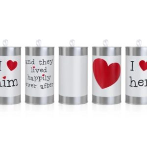 """Happily Ever After"" Wedding Car Cans"" (5pcs)"