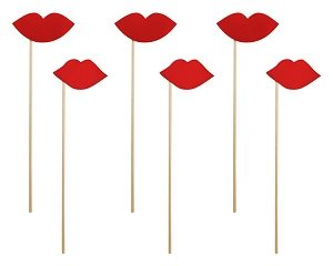 Red Lips Photo Props (6pcs)