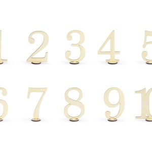 Wooden Table Numbers (10pcs)