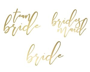 """Team Bride"" Gold Temporary Tattoos"" (15pcs)"