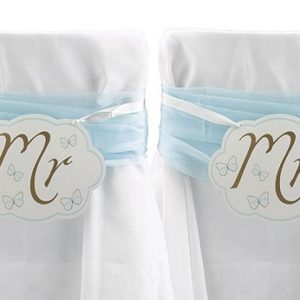 Mr and Mrs Chair Buntings for the Bride and Groom 2pcs