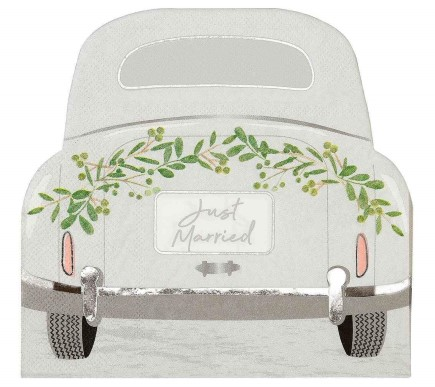 Just Married Luncheon Napkins 16pcs